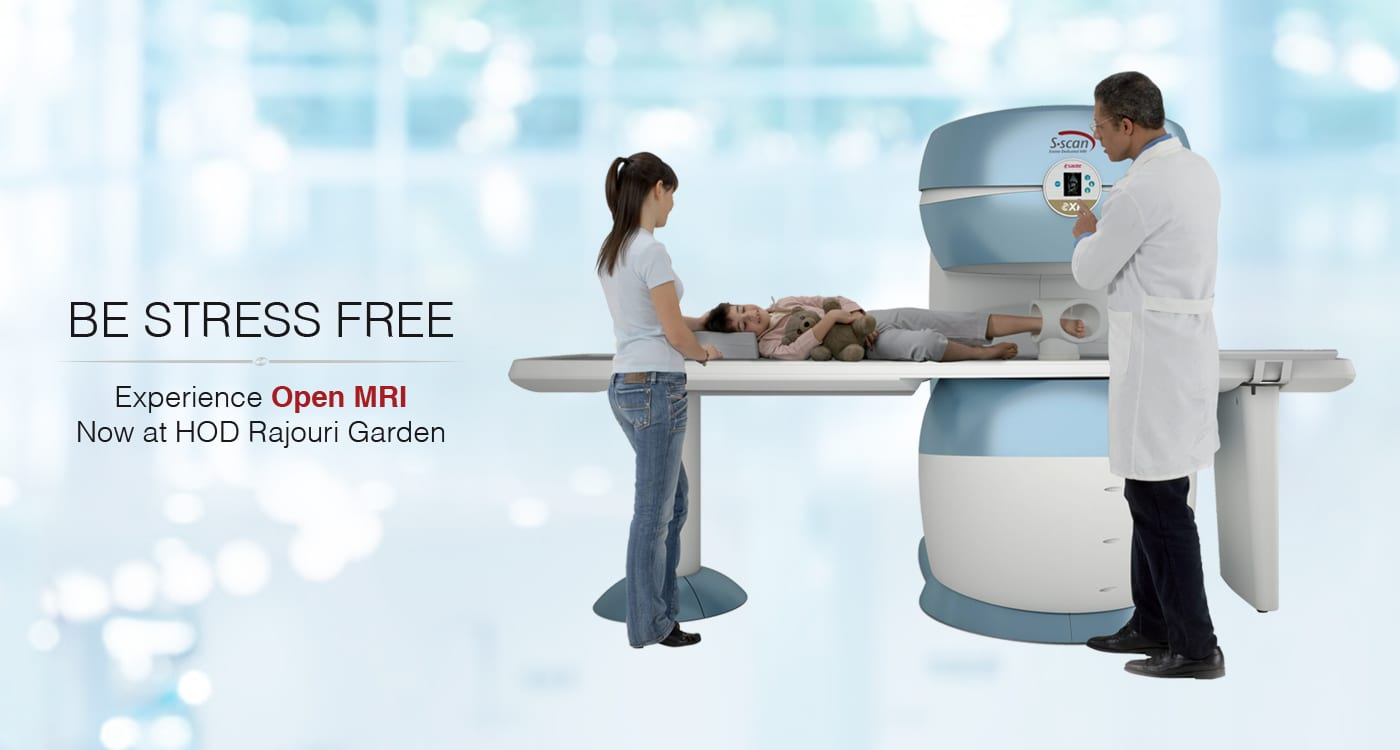 Open MRI Scan test at HOD Rajouri Garden center Delhi